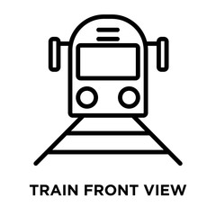 Train Front View icon vector isolated on white background, Train Front View sign , linear and stroke elements in outline style