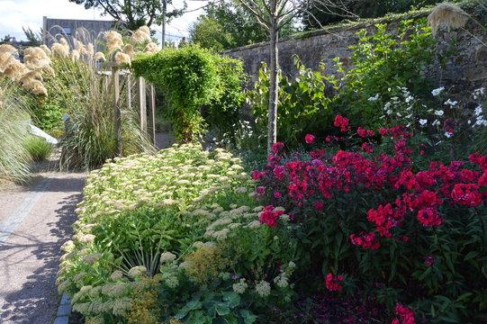 Aberdour Old School Sensory Garden, Aberdour, Fife, Scotland, with plants designed to stimulate all of the senses.