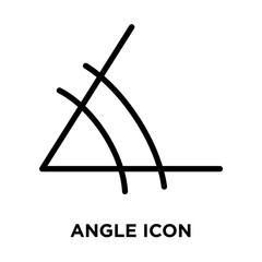 Angle icon vector isolated on white background, Angle sign , line and outline elements in linear style