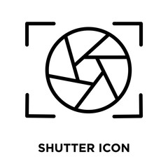 Shutter icon vector isolated on white background, Shutter sign , line and outline elements in linear style
