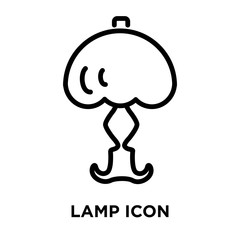 Lamp icon vector isolated on white background, Lamp sign , linear and stroke elements in outline style