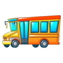 Retro kid school bus icon. Cartoon of retro kid school bus vector icon for web design isolated on white background