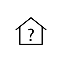 real estate information question icon. Element of real estate sign for mobile concept and web apps icon. Thin line icon for website design and development, app development