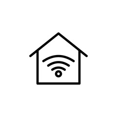 real estate Wi-fi icon. Element of real estate sign for mobile concept and web apps icon. Thin line icon for website design and development, app development