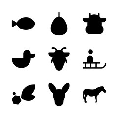 animal icons set. outdoor, expression, marine and mammal graphic works
