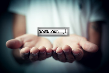 ..Business button download icon network