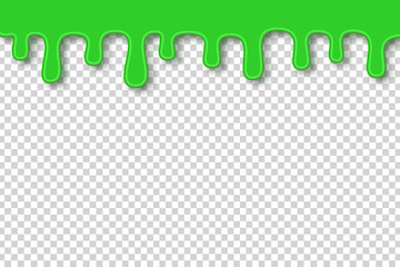 Vector cartoon isolated green slime for decoration and covering on the transparent background. Concept of Happy Halloween.