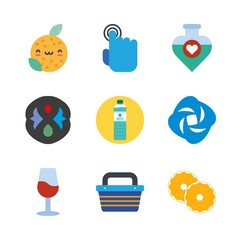 drink icons set. whole, halloween, mysterious and witchcraft graphic works