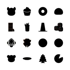 eat icons set. breakfast, ceremony, couple and play graphic works