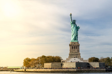 Tuinposter Historisch mon. Statue of Liberty in NYC