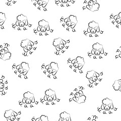 head of a sheep icon in pattern style. Element of sheeps icon for mobile concept and web apps. Sketch head of a sheep icon in pattern style can be used for web and mobile