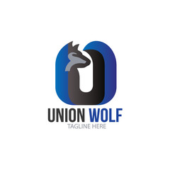 Letter U Wolf