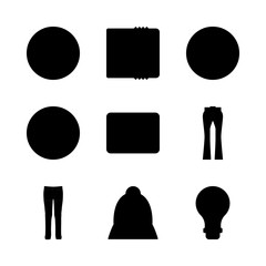 human vector icons set. skull, turned off, trousers and accordion in this set