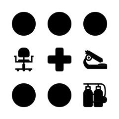 9 hospital icons set