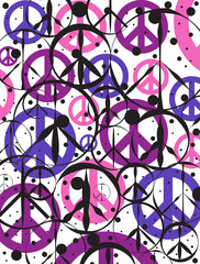 Peace Sign Abstract Background