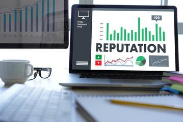 REPUTATION Popular Ranking Honor Reputation management Branding Concept