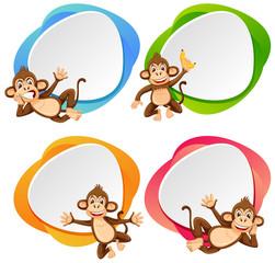 A set of monkey banner
