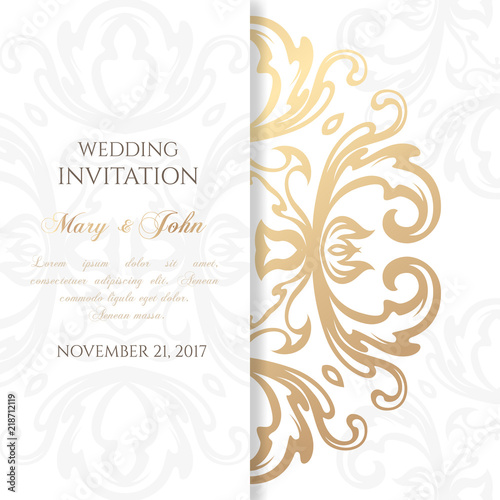 Wedding Invitation Templates Cover Design With Ornaments And White
