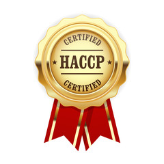 HACCP certified site sign - quality standard golden rosette