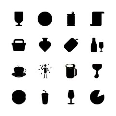 drink vector icons set. wine house logo, soda, beer and wine in this set