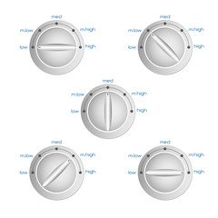 kitchen oven knob with heat power set