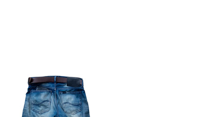 Jeans isolated on white background with clipping path.
