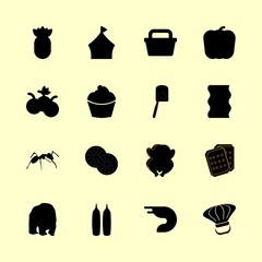 food icons set. dietary, cut, poin and buttercream graphic works
