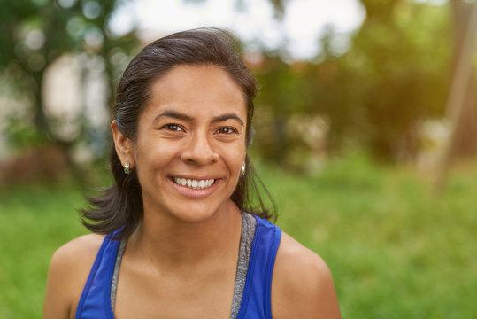 Pretty smiling latina woman