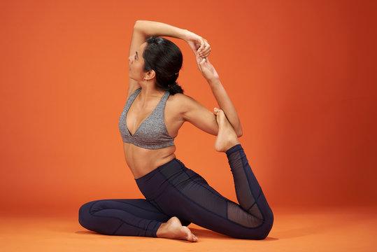 Yoga Pose  One Legged King Pigeon