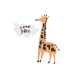 Cute Vector giraffe