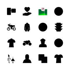 man vector icons set. camcorder, smartphone, stick man and surgery in this set