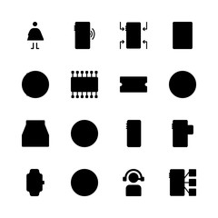 telephone vector icons set. inbox, telemarketer, smartwatch and pregnantcy in this set