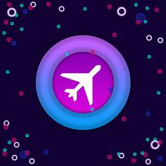 Самолет в кружочке