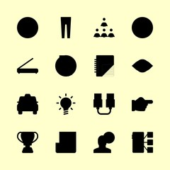 business icons set. people, plug, gesture and storage graphic works
