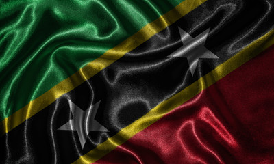 Wallpaper by Saint Kitts and Nevis flag and waving flag by fabric.