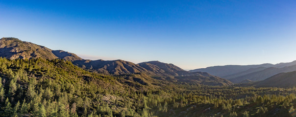 Mountain Range in Angeles National Forest