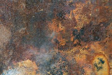 Rust door background brown orange iron