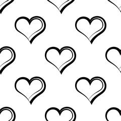 Heart Shape Icon Seamless Pattern
