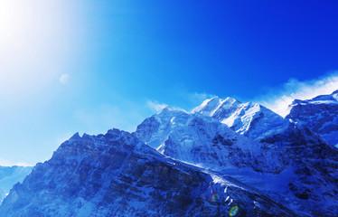 Tuinposter Donkerblauw Kanchenjunga region