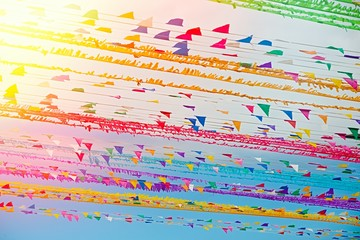 colourful flags