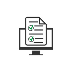 Online form icon isolated on white background. Vector illustration.