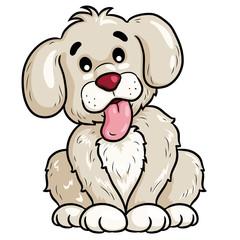 Dog Cute Cartoon Illustration of cute cartoon dog.