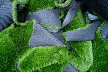 artificial grass heap