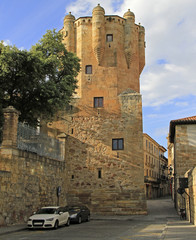 Clavero tower is museum and old prison in Salamanca
