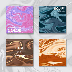 Liquid color covers set. Fluid shapes composition. Futuristic design posters. Vector banner. Template colorful cover. Futuristic modern art. Creative concept of shape fluid
