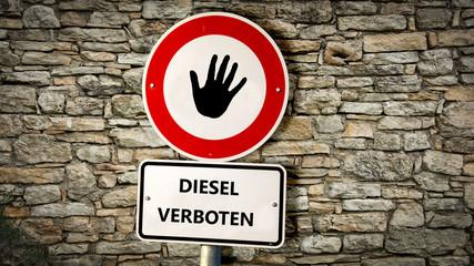 Schild 352 - Diesel