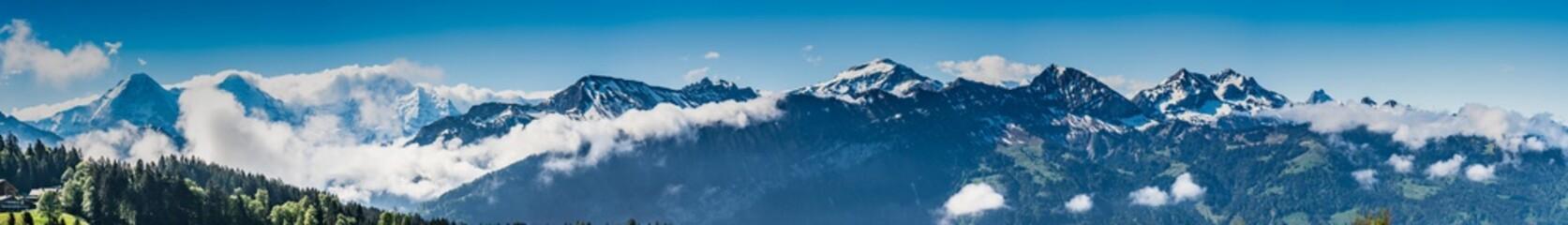 Switzerland, Beatenberg Alps panoramic view