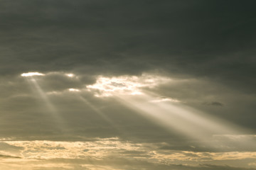 louds With Sun Rays