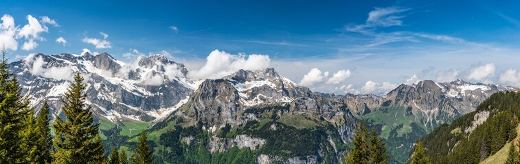 Photo sur Aluminium Alpes Switzerland, Engelberg Alps panorama view