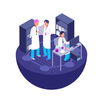 3d isometric laboratory concept